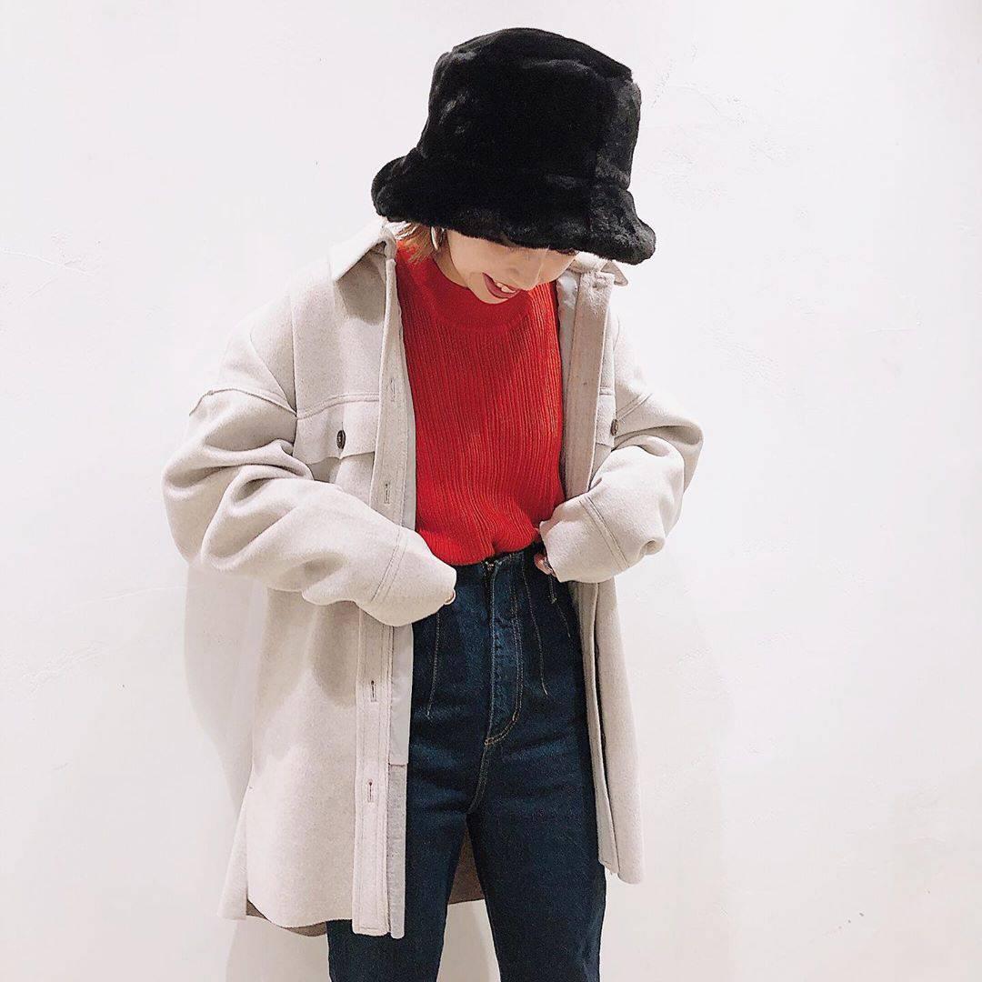最高気温20度・最低気温11度 akaririri_1022の服装