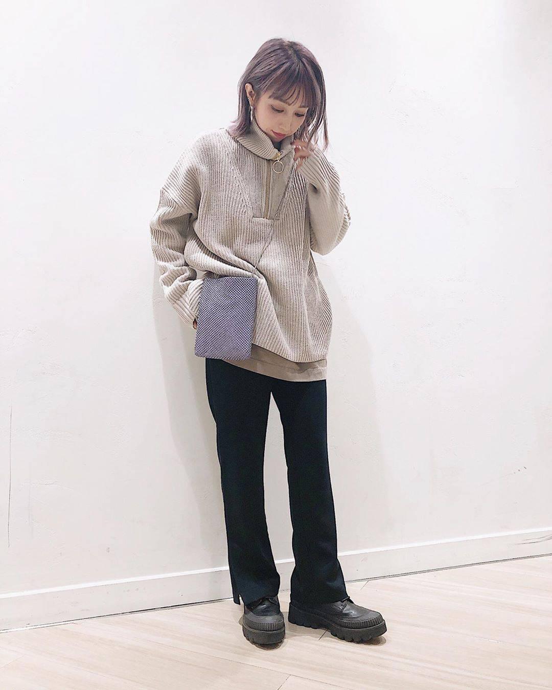 最高気温9度・最低気温6度 akaririri_1022の服装