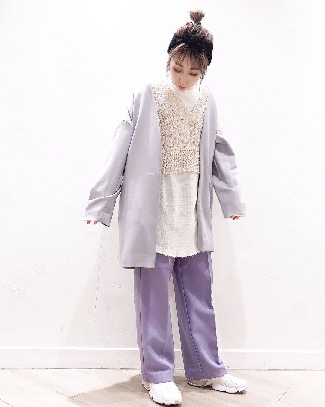 最高気温12度・最低気温0度 akaririri_1022の服装