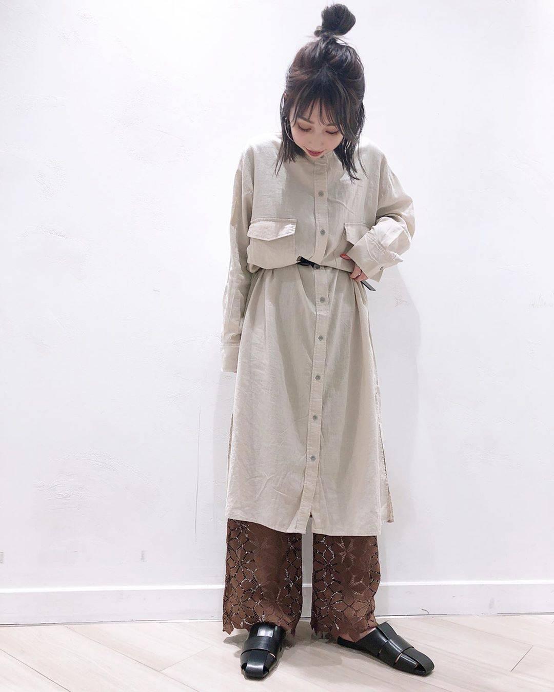 最高気温15度・最低気温4度 akaririri_1022の服装