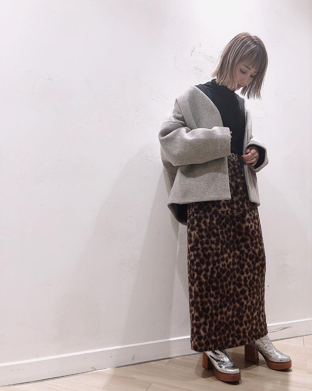 最高気温14度・最低気温9度 akaririri_1022の服装