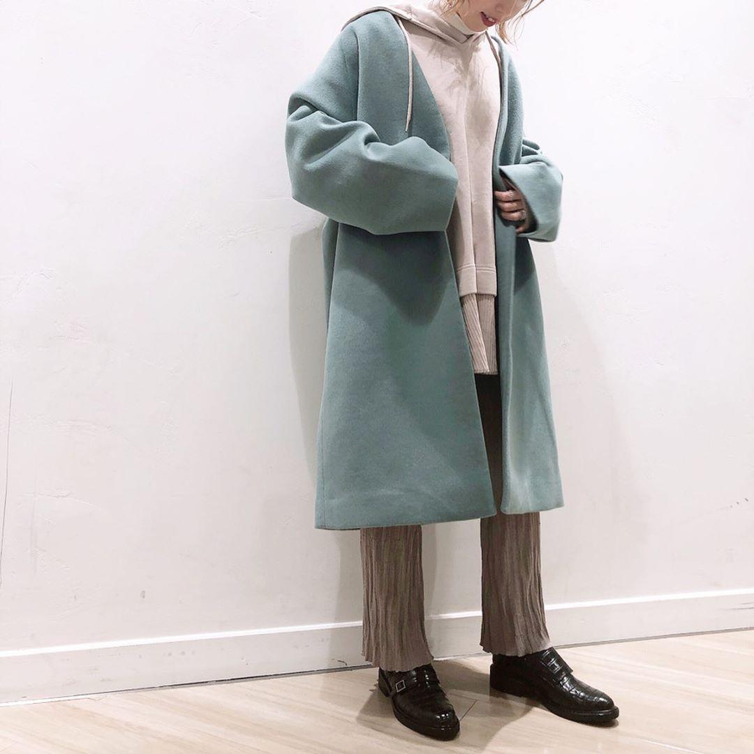 最高気温14度・最低気温6度 akaririri_1022の服装