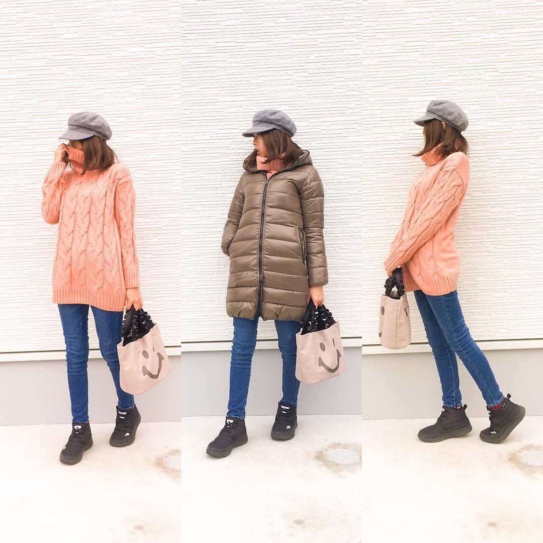 最高気温4度・最低気温1度 amhg0620の服装