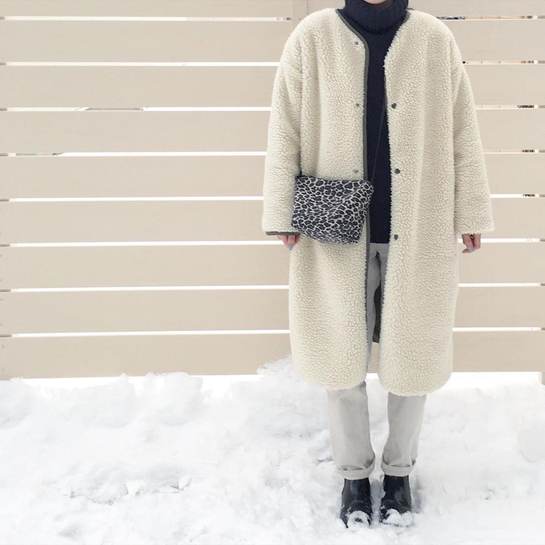 最高気温7度・最低気温-3度 aya7655の服装