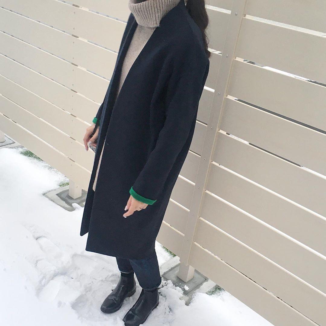 最高気温10度・最低気温0度 aya7655の服装