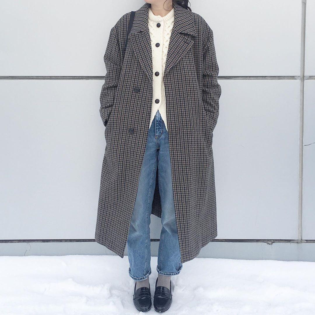 最高気温15度・最低気温0度 aya7655の服装