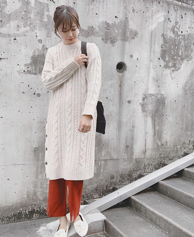 最高気温19度・最低気温9度 ayanishikadoの服装