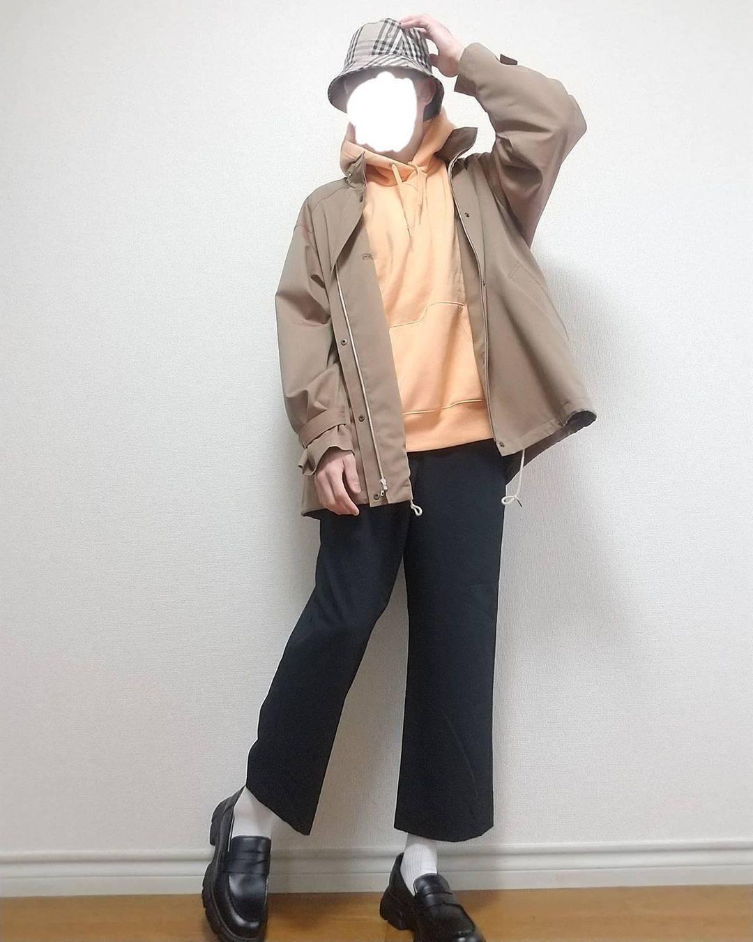 最高気温14度・最低気温7度 boushi567の服装