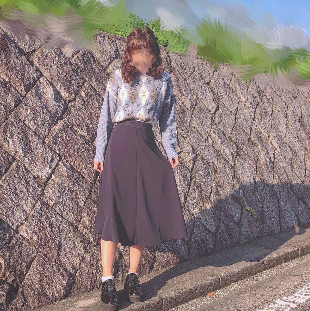 最高気温17度・最低気温11度 flower_22227の服装