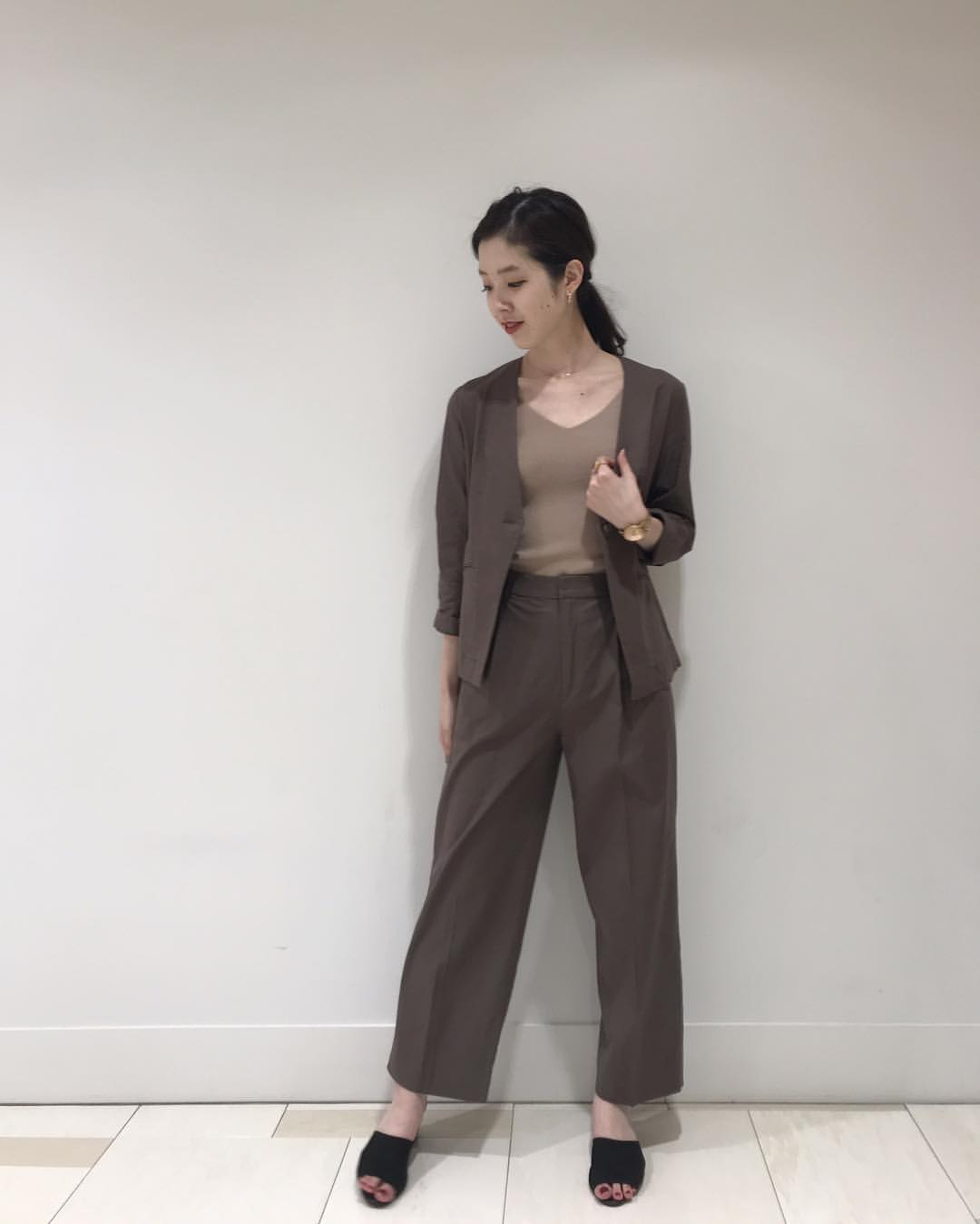 最高気温15度・最低気温3度 hikari_k0122の服装