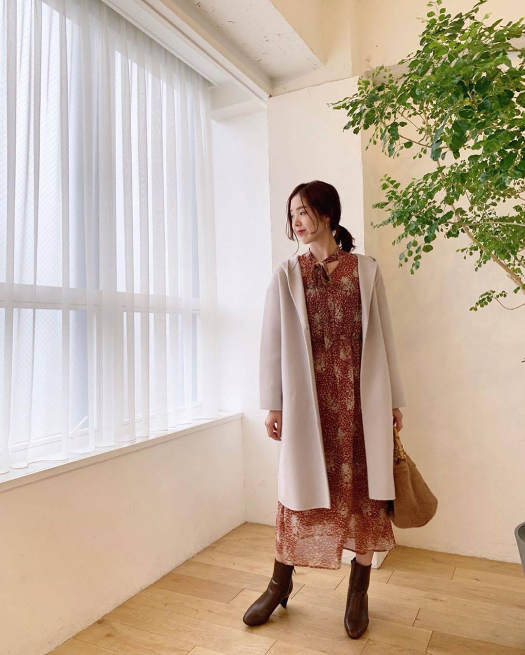 最高気温21度・最低気温14度 hikari_k0122の服装