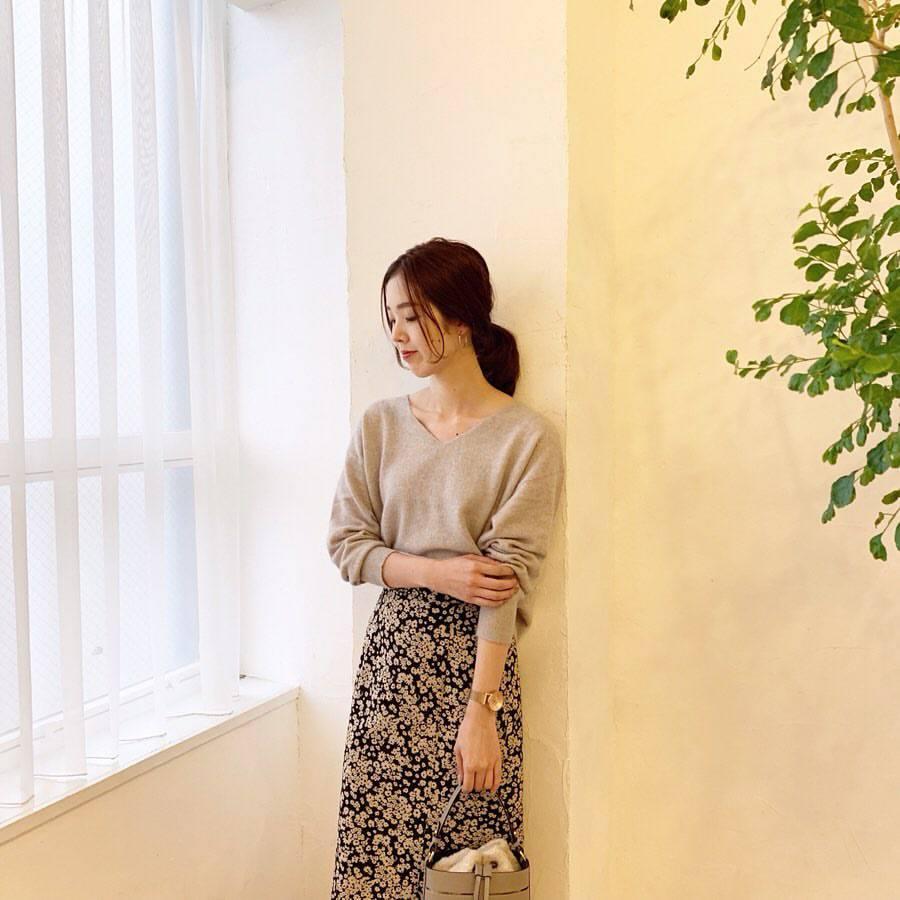 最高気温22度・最低気温12度 hikari_k0122の服装