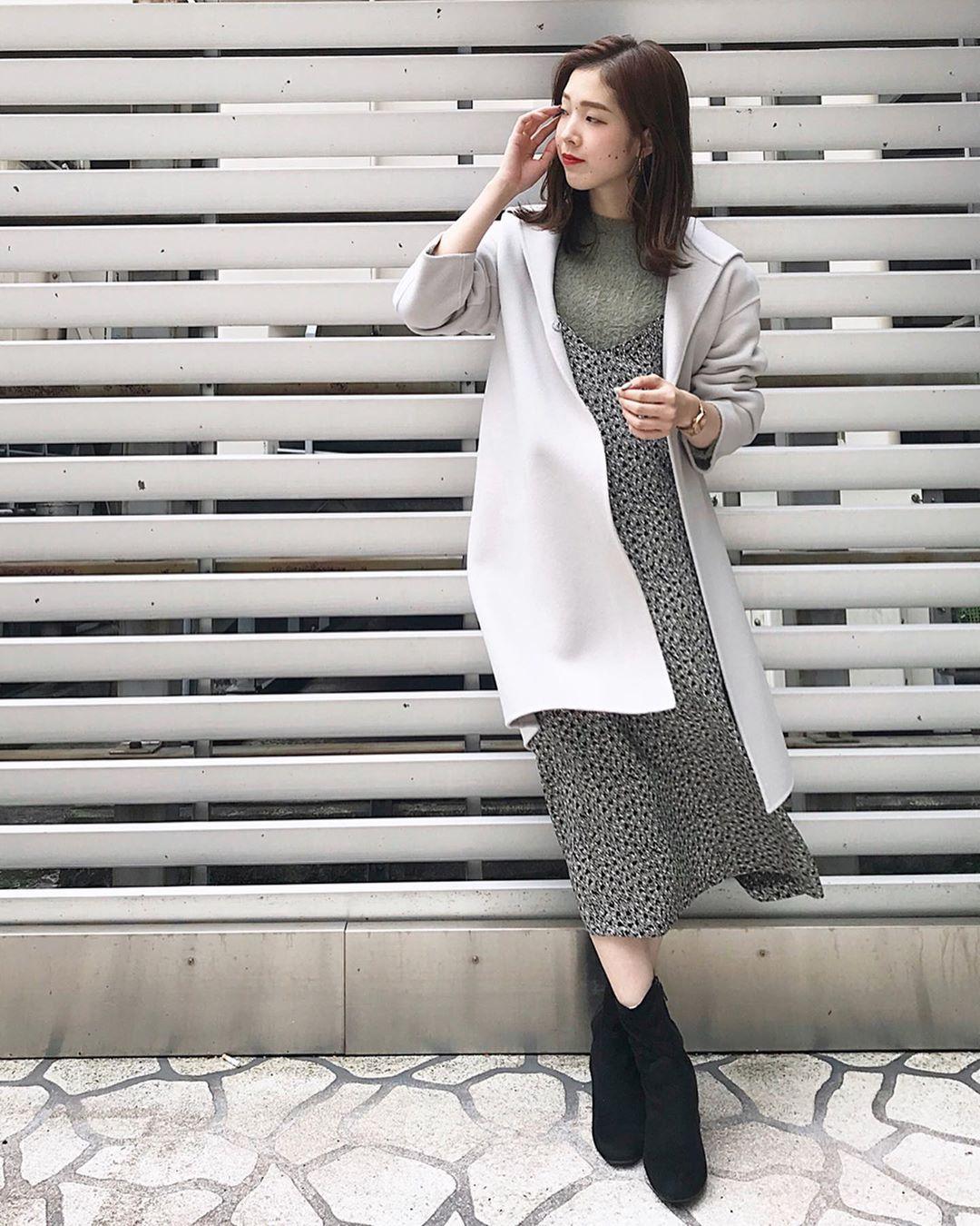 最高気温18度・最低気温10度 hikari_k0122の服装