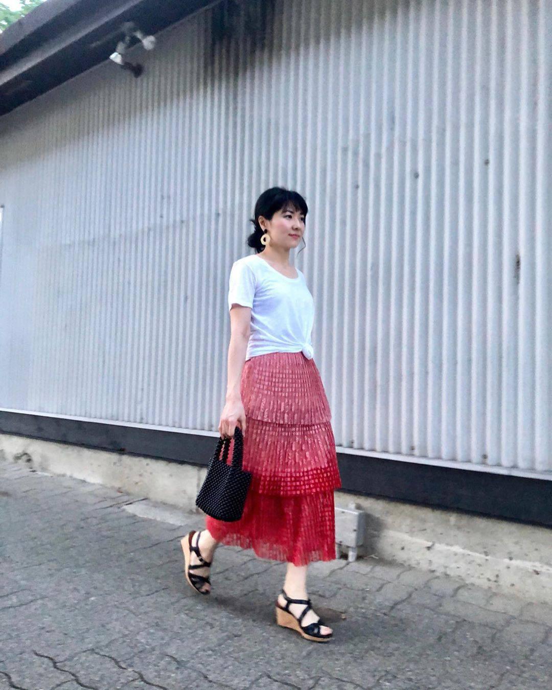 最高気温29度・最低気温22度 i.styleclosetの服装