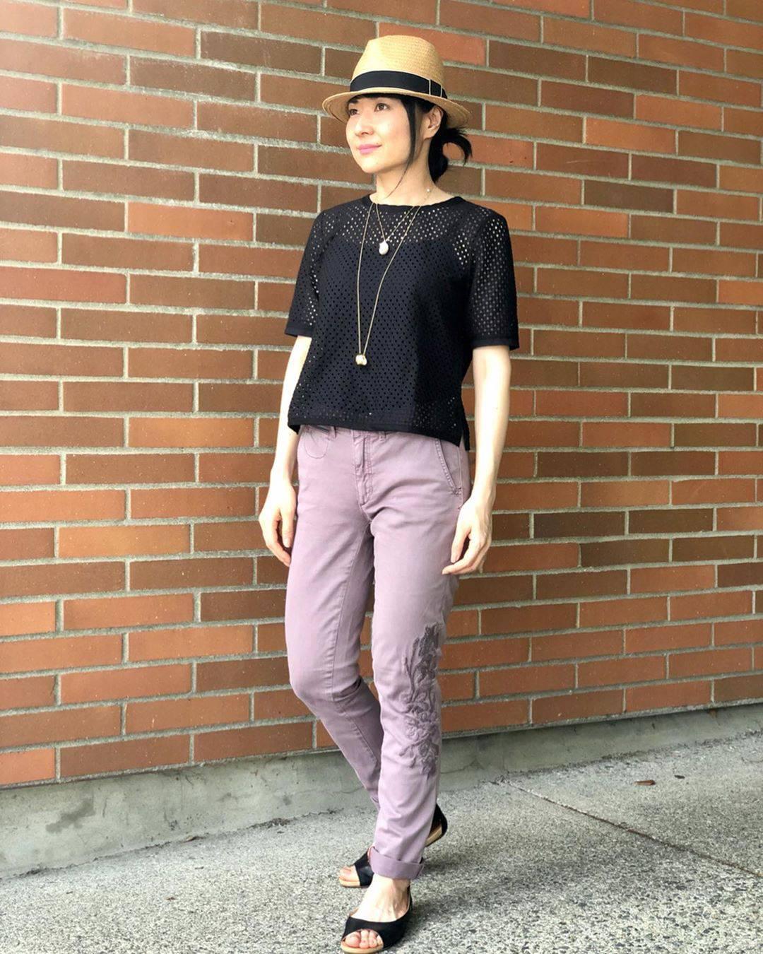 最高気温33度・最低気温25度 i.styleclosetの服装