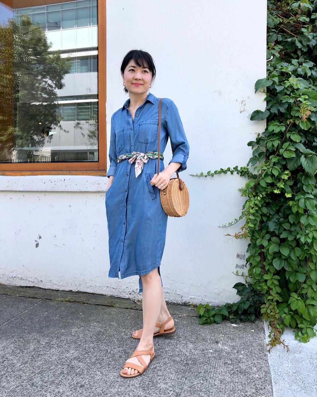 最高気温34度・最低気温25度 i.styleclosetの服装