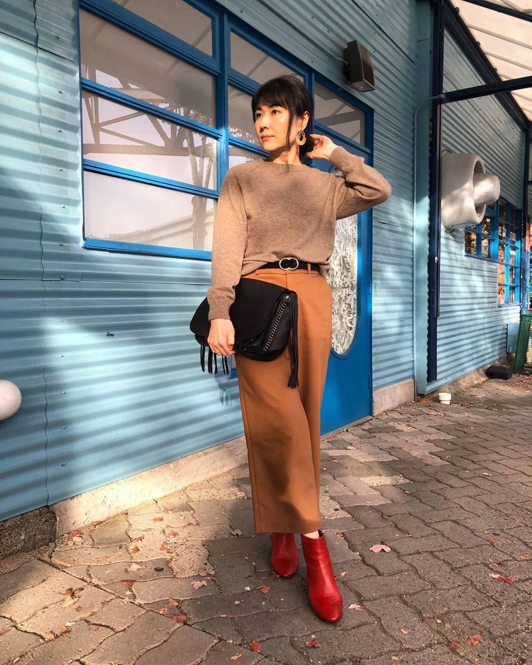 最高気温18度・最低気温14度 i.styleclosetの服装