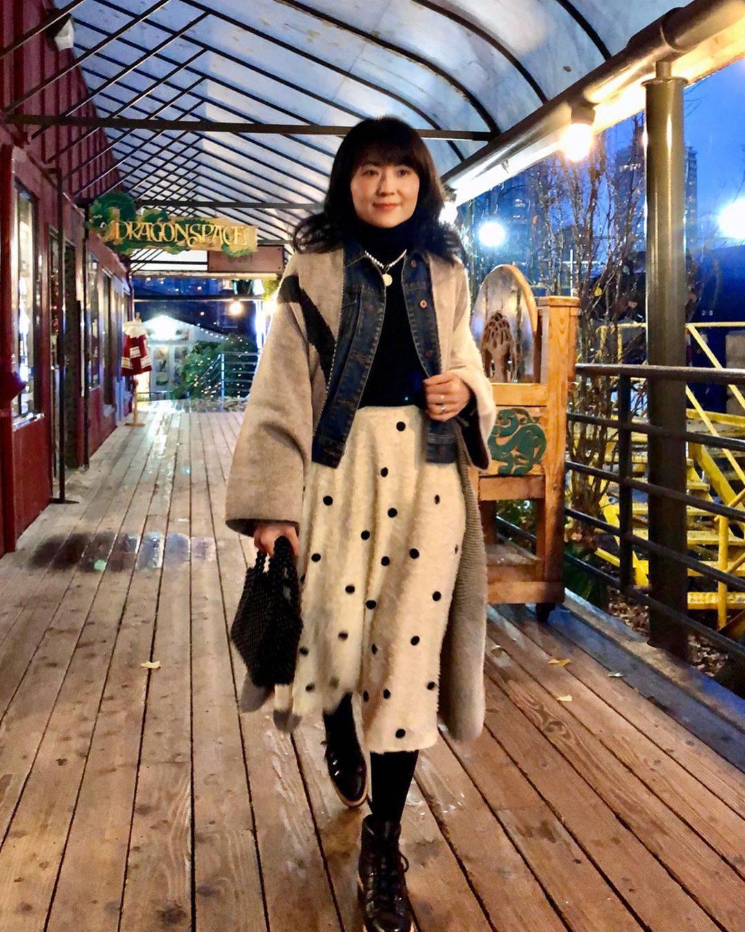 最高気温18度・最低気温7度 i.styleclosetの服装