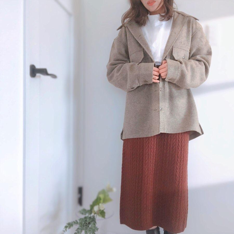 最高気温18度・最低気温10度 kotomama7577の服装