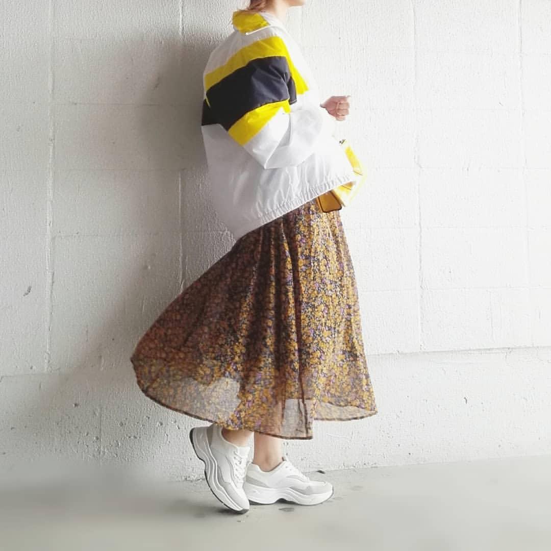 最高気温13度・最低気温4度 mamkorisaの服装