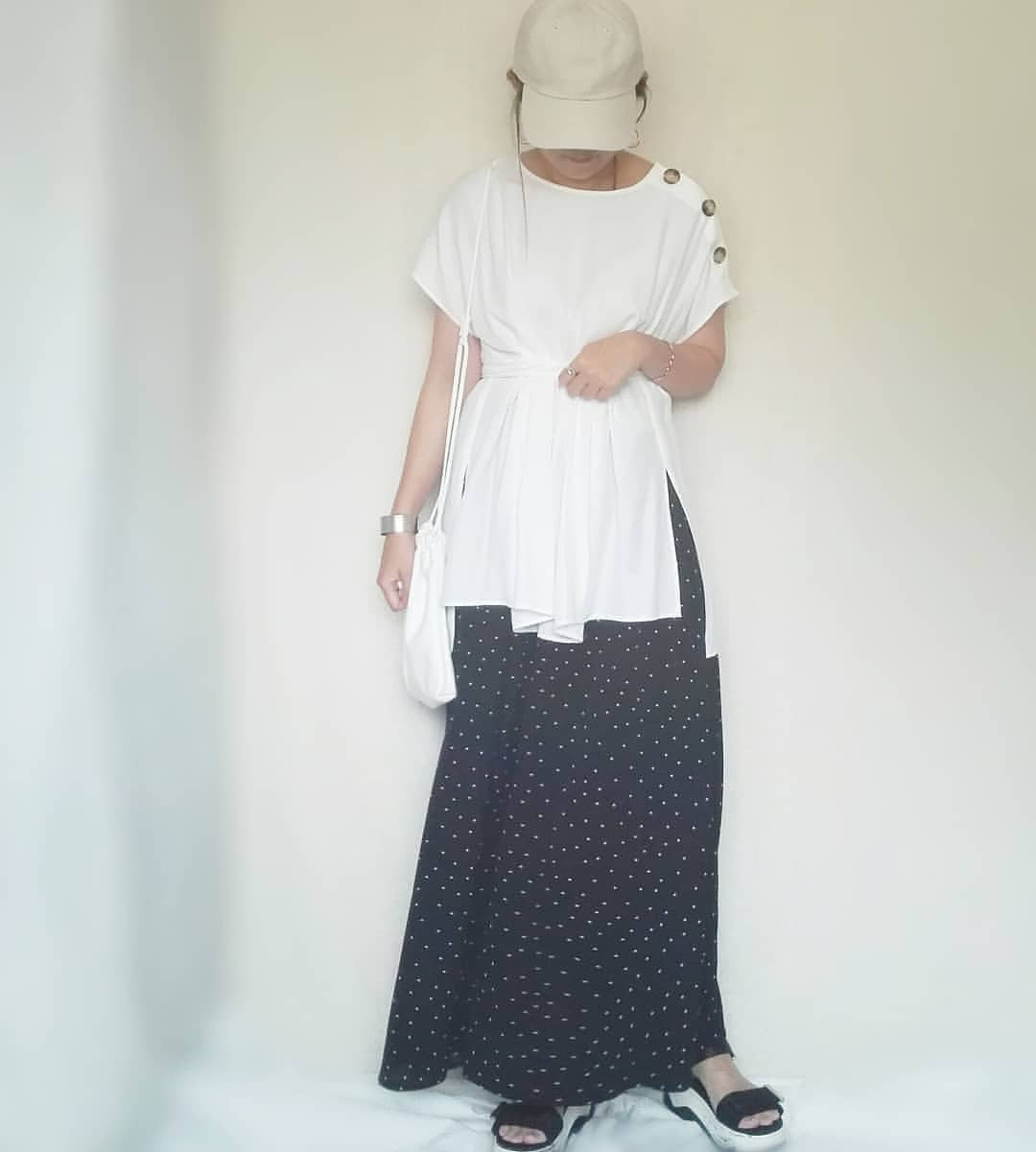 最高気温25度・最低気温19度 mamkorisaの服装