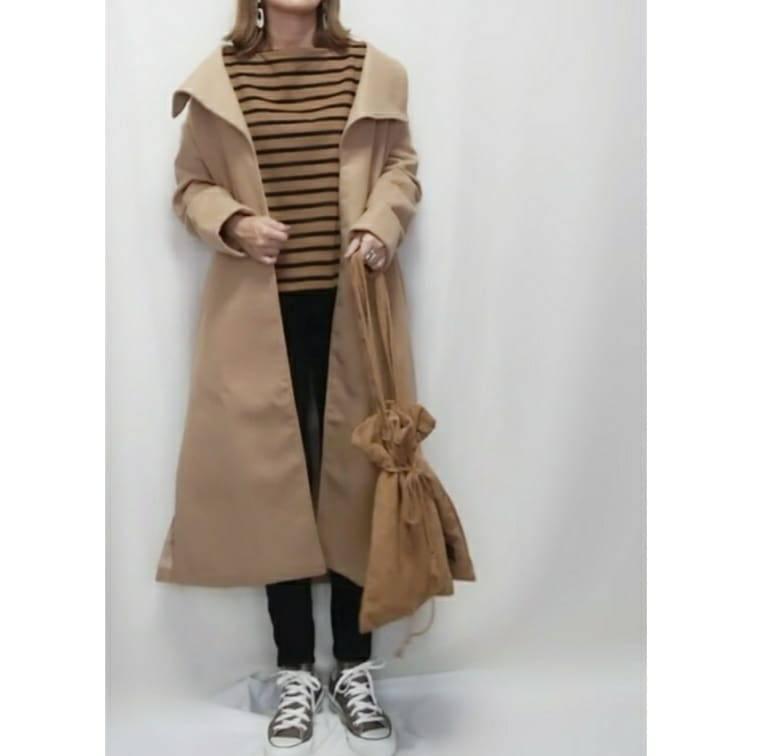 最高気温24度・最低気温13度 mamkorisaの服装