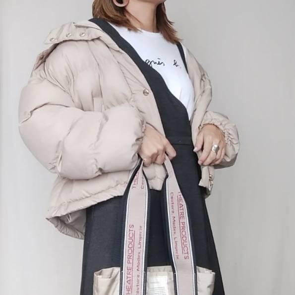 最高気温10度・最低気温7度 mamkorisaの服装