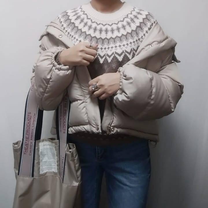 最高気温7度・最低気温4度 mamkorisaの服装