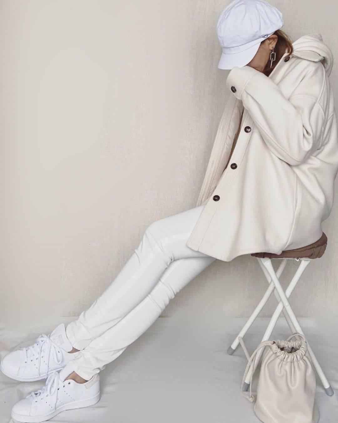 最高気温11度・最低気温3度 mamkorisaの服装