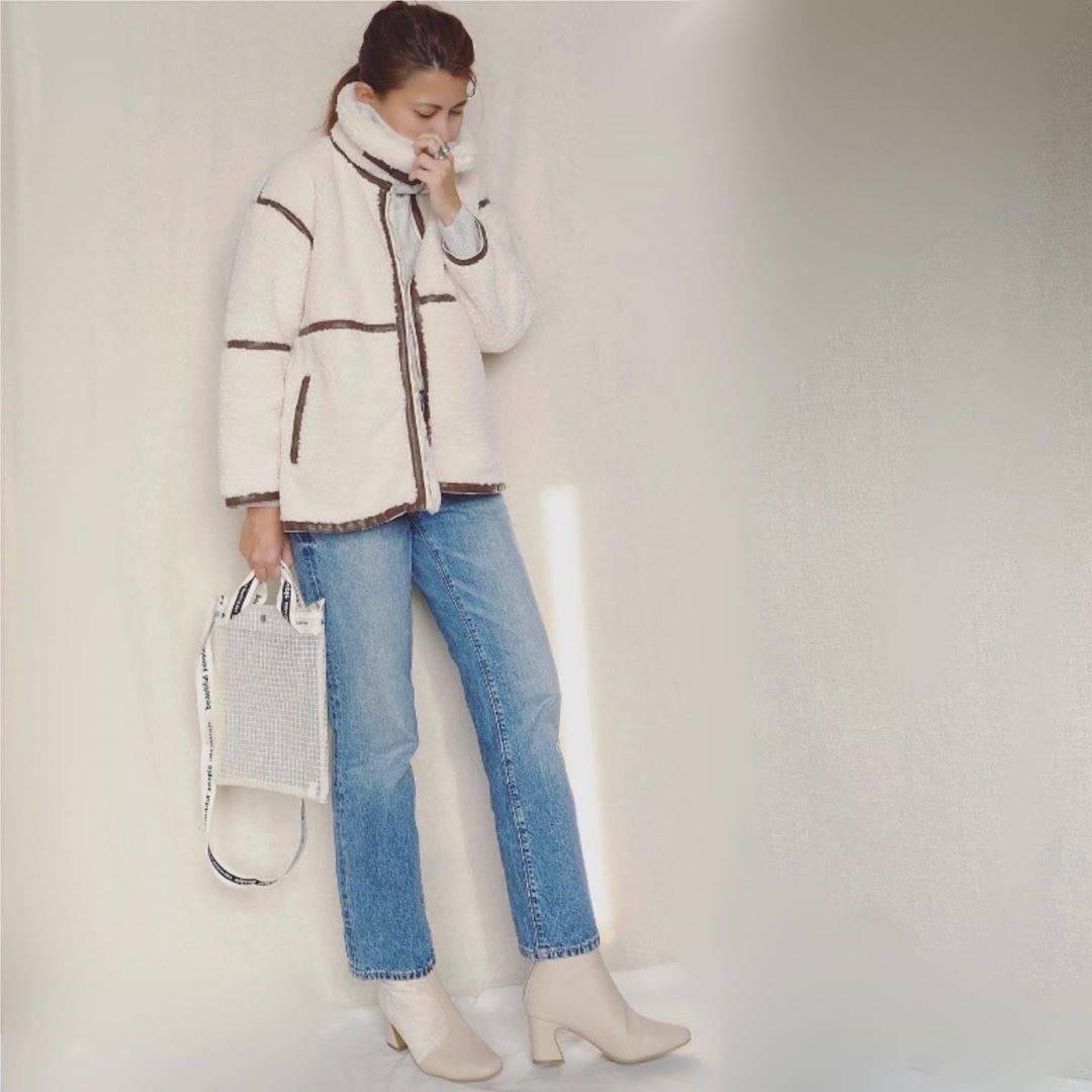 最高気温8度・最低気温4度 mamkorisaの服装