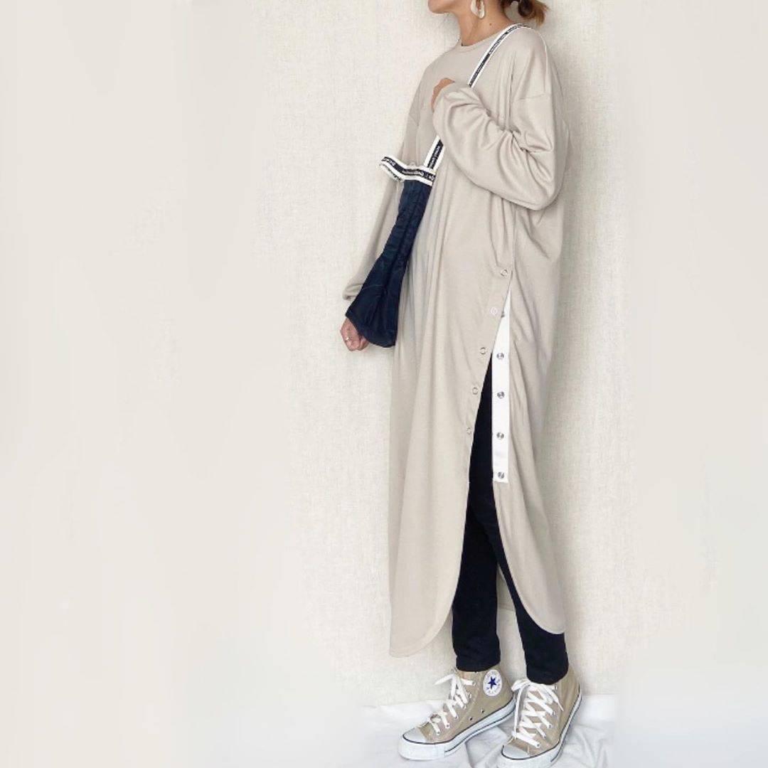 最高気温13度・最低気温3度 mamkorisaの服装