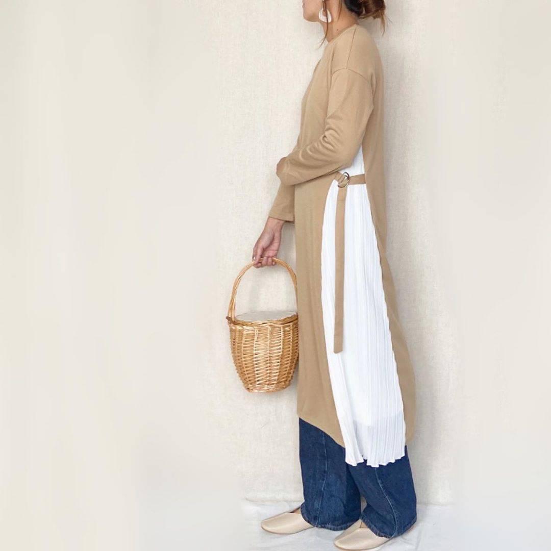 最高気温17度・最低気温6度 mamkorisaの服装
