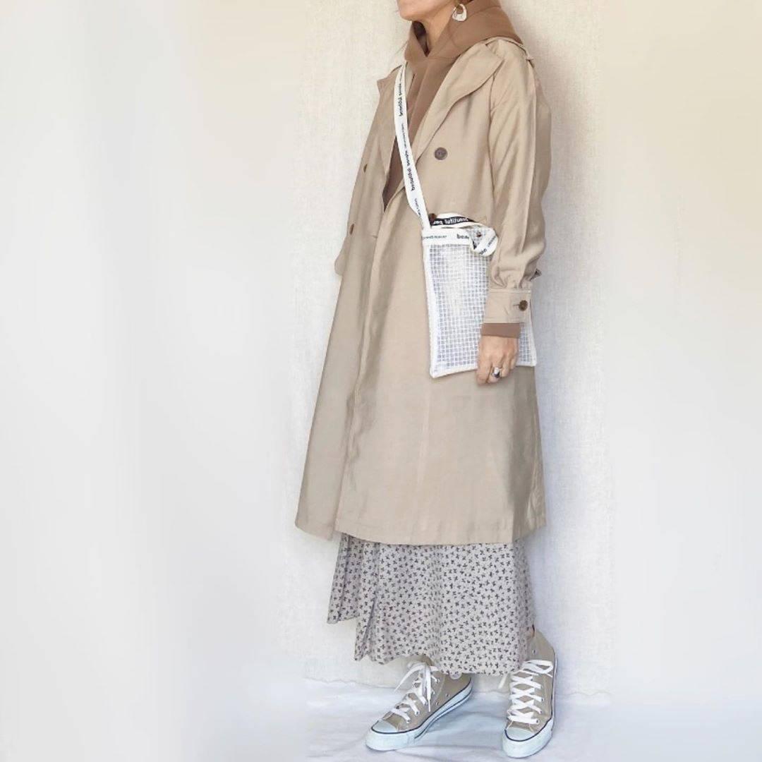 最高気温12度・最低気温2度 mamkorisaの服装