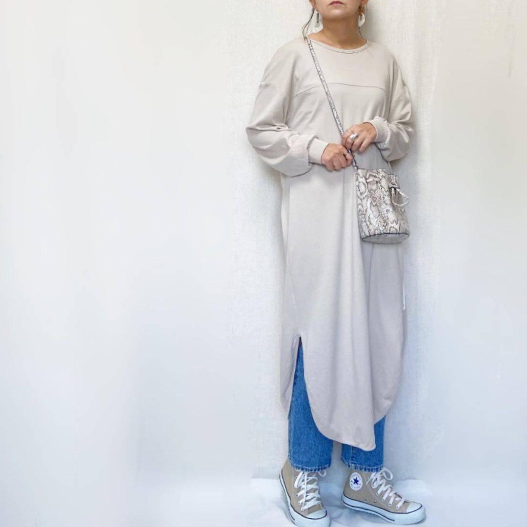 最高気温24度・最低気温7度 mamkorisaの服装