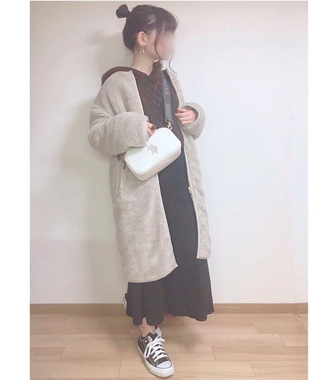 最高気温15度・最低気温5度 momo_wearの服装