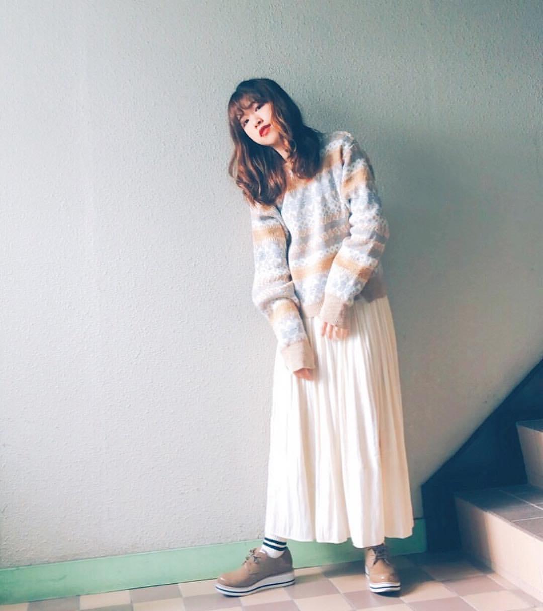 最高気温10度・最低気温3度 natsu_outfitsの服装