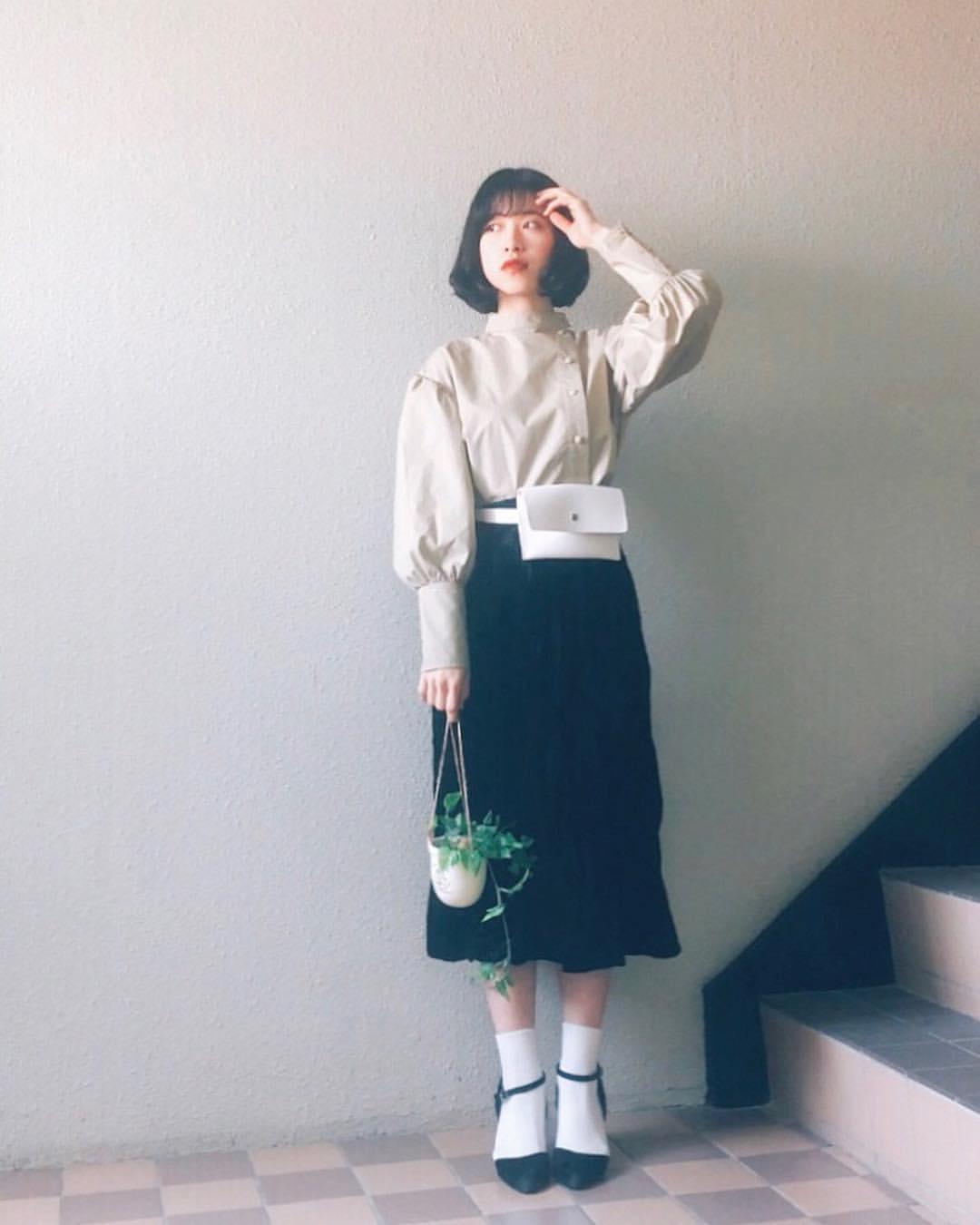 最高気温12度・最低気温7度 natsu_outfitsの服装