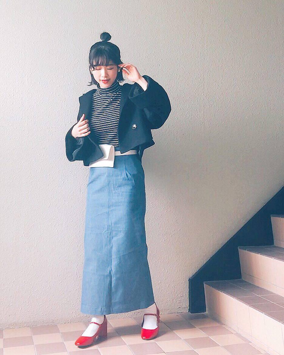 最高気温15度・最低気温3度 natsu_outfitsの服装