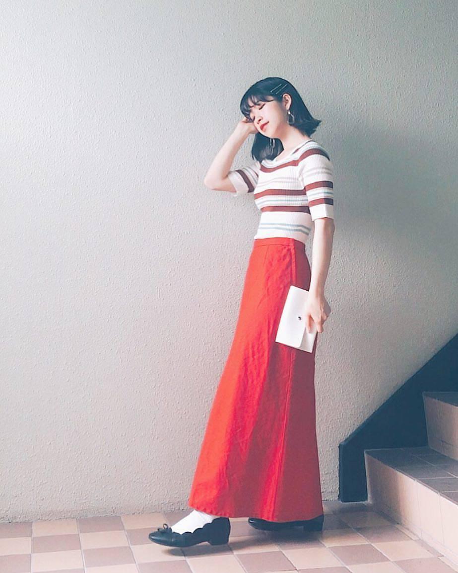 最高気温20度・最低気温17度 natsu_outfitsの服装