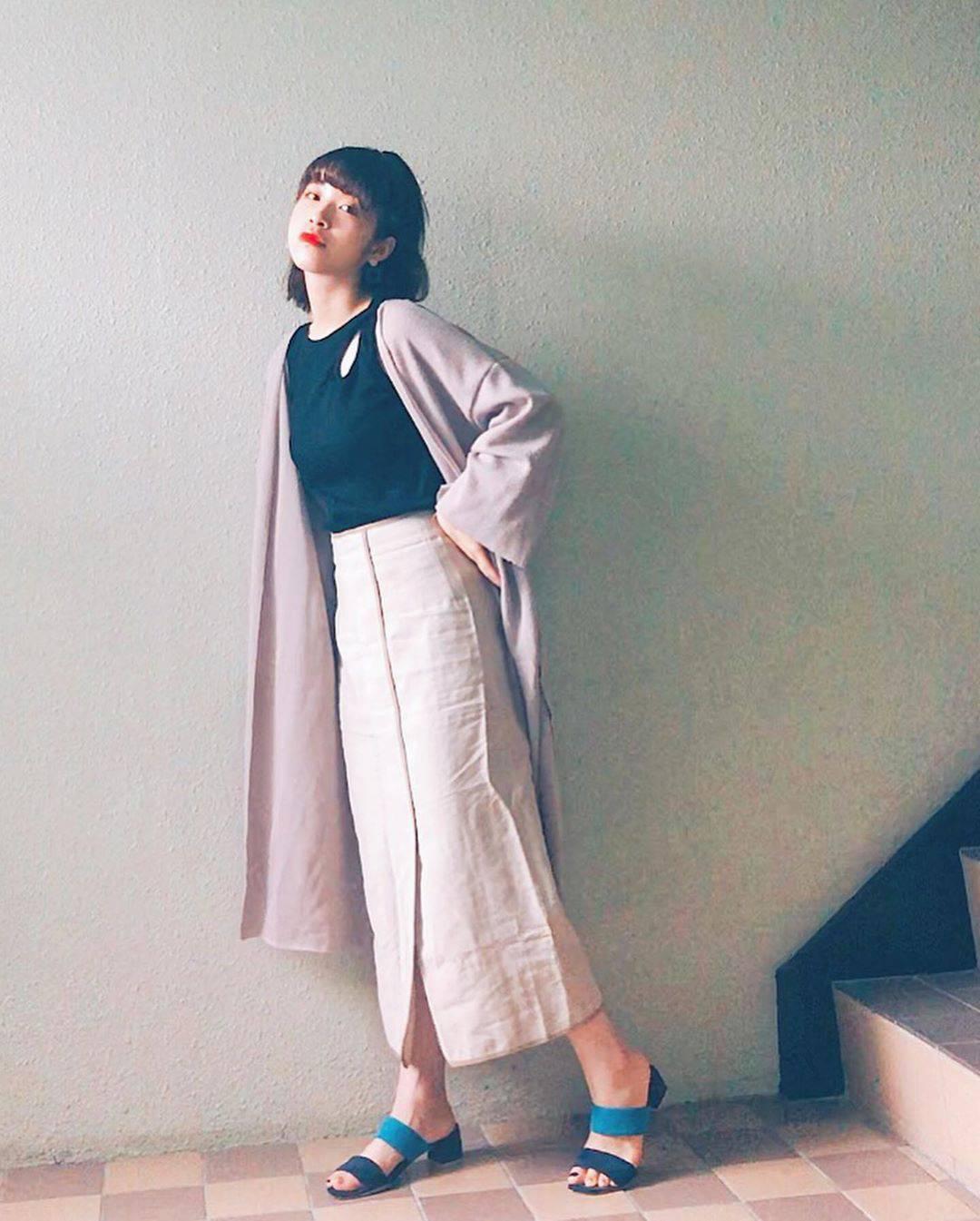 最高気温21度・最低気温14度 natsu_outfitsの服装