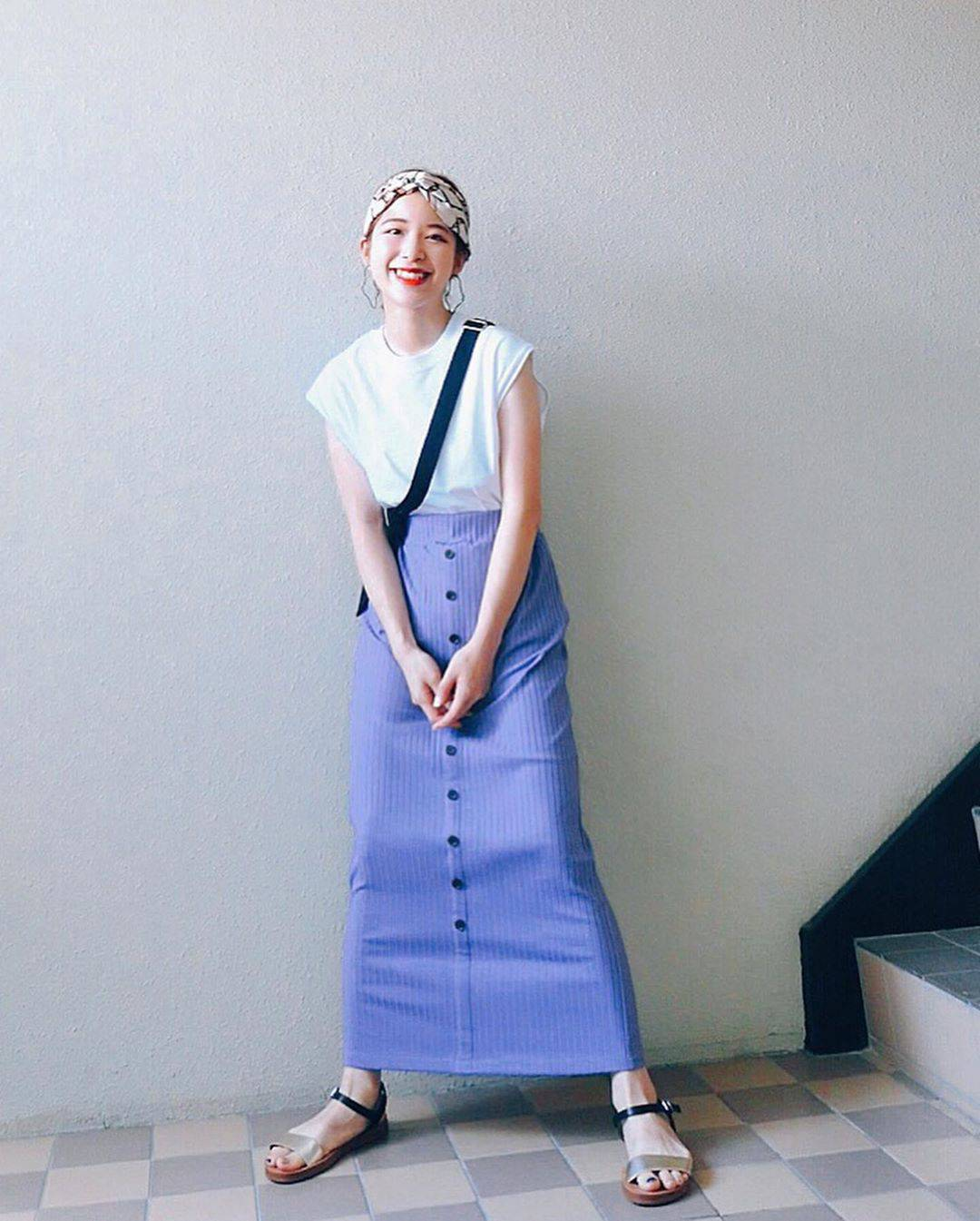 最高気温26度・最低気温20度 natsu_outfitsの服装