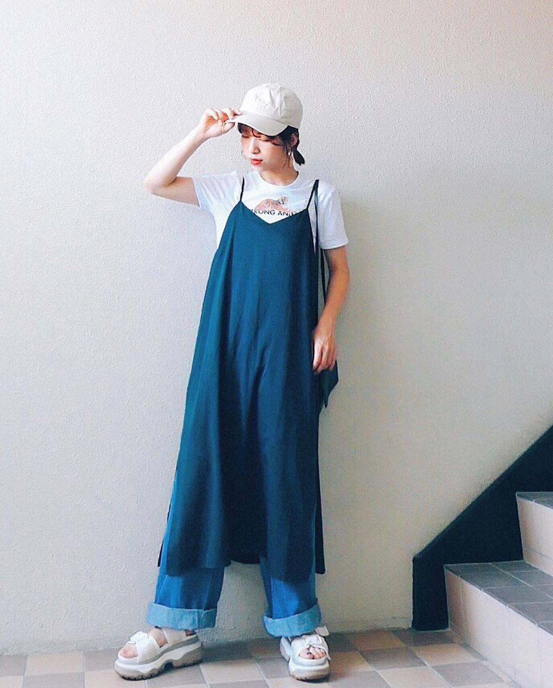 最高気温34度・最低気温25度 natsu_outfitsの服装