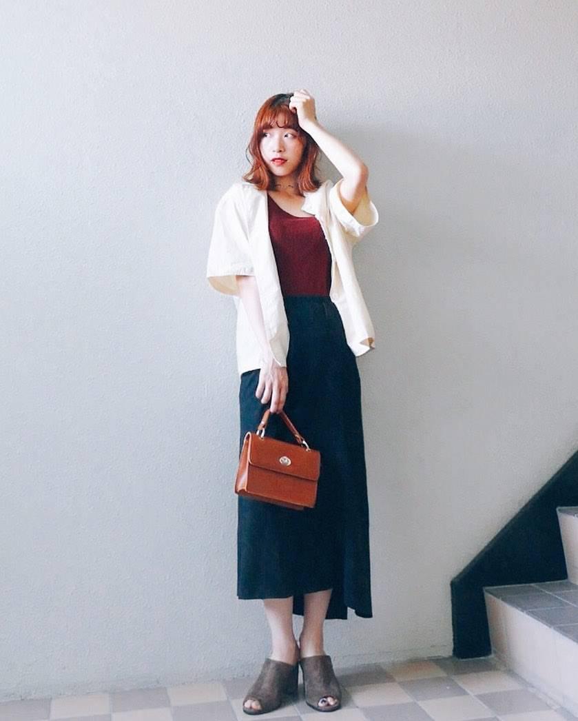 最高気温35度・最低気温25度 natsu_outfitsの服装