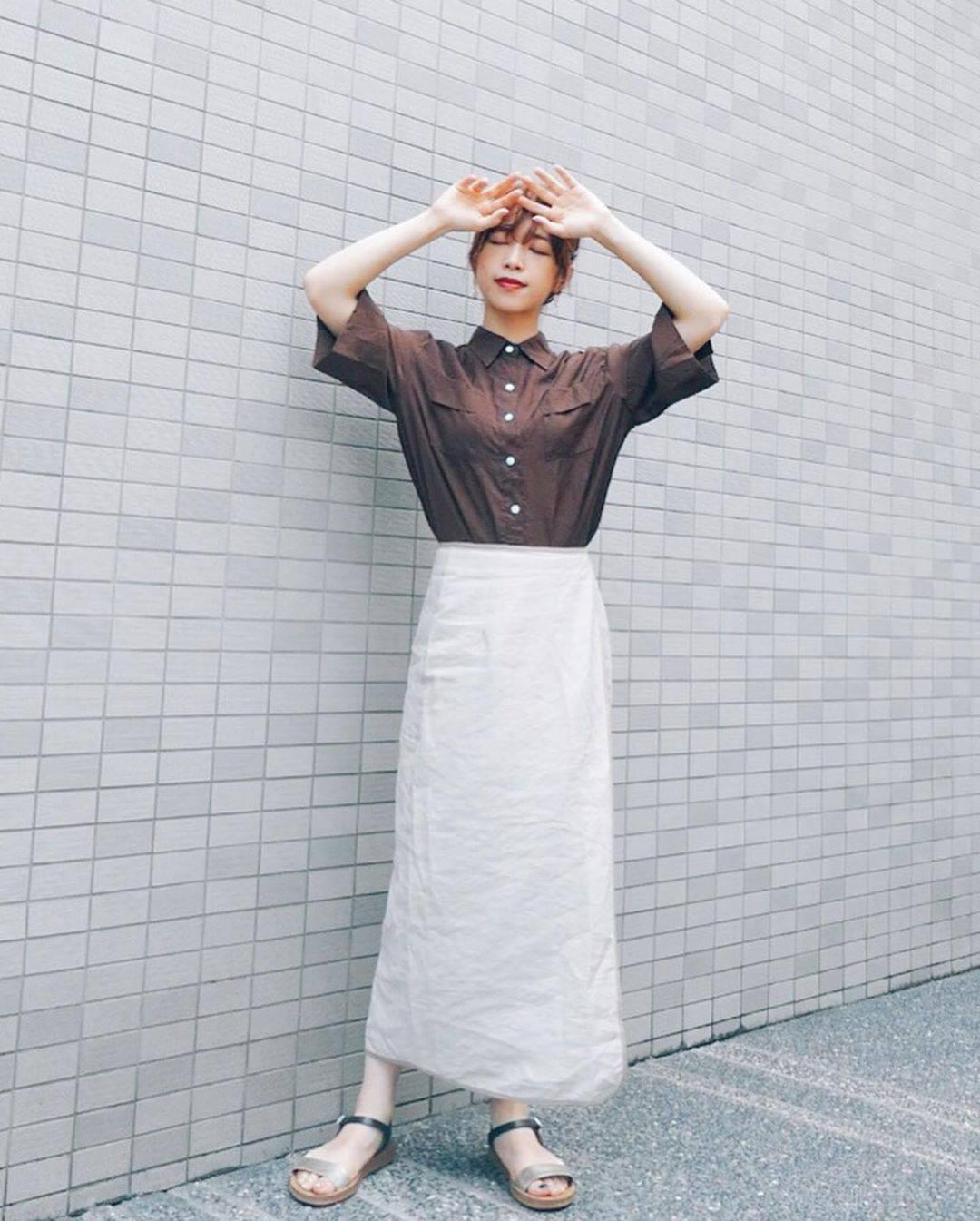 最高気温32度・最低気温27度 natsu_outfitsの服装