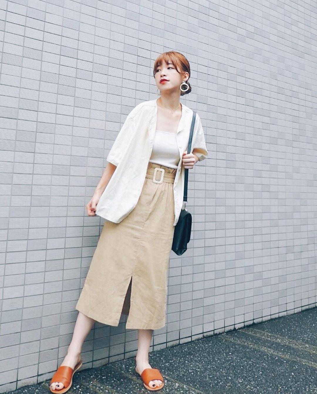 最高気温31度・最低気温22度 natsu_outfitsの服装