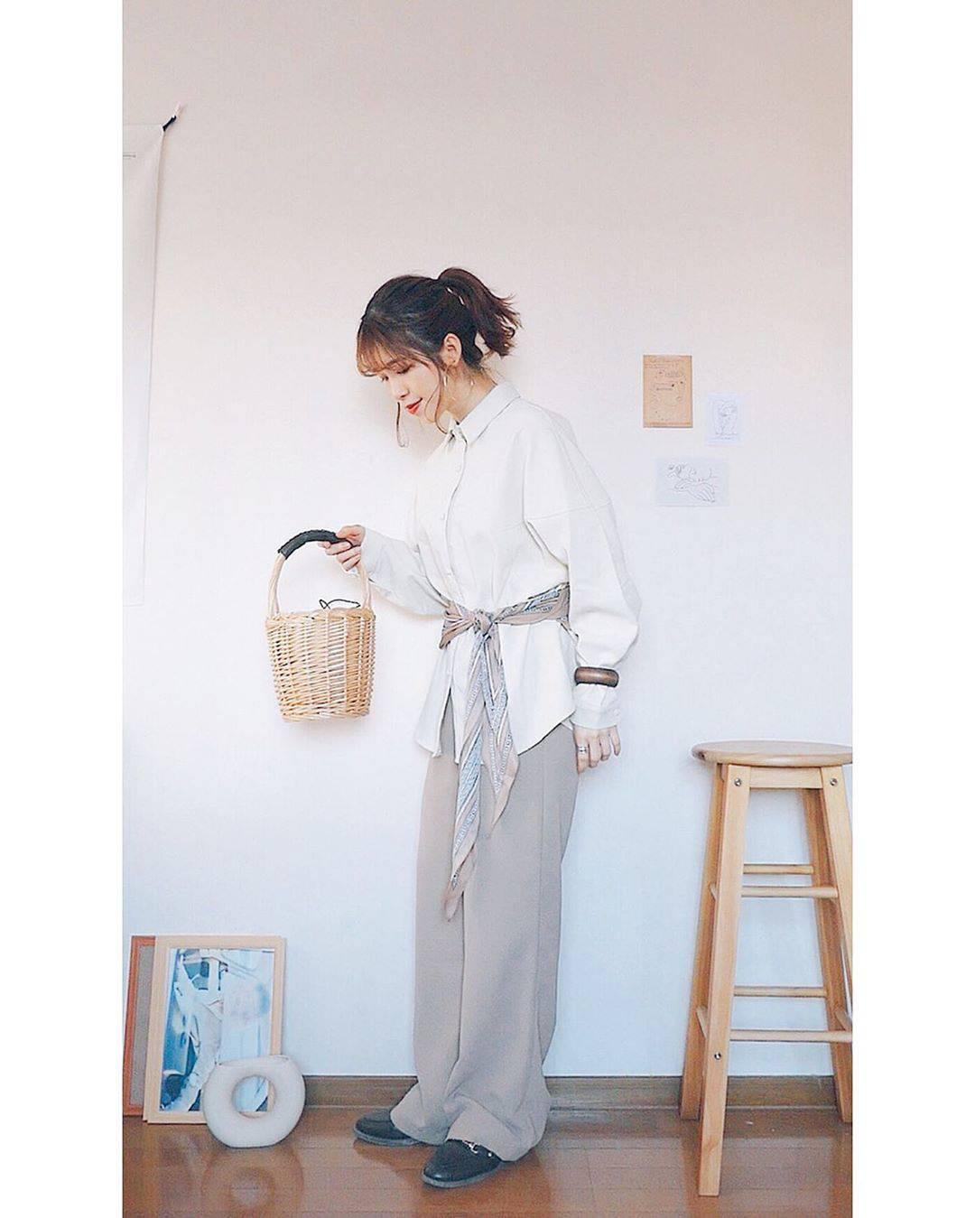 最高気温9度・最低気温7度 natsu_outfitsの服装