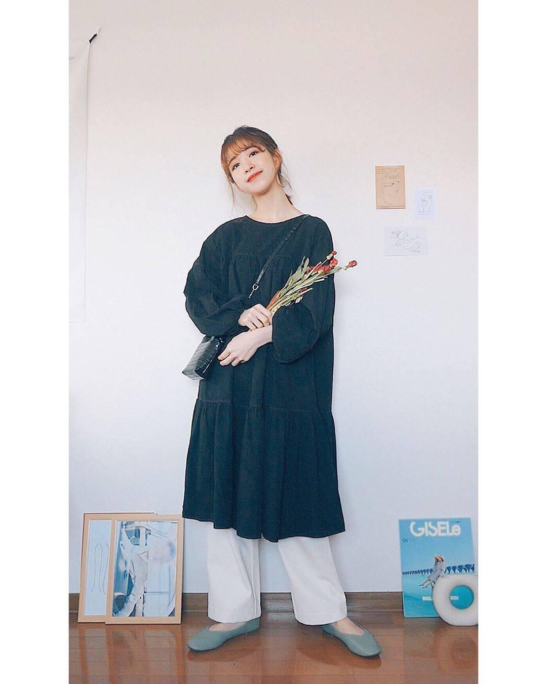 最高気温19度・最低気温7度 natsu_outfitsの服装