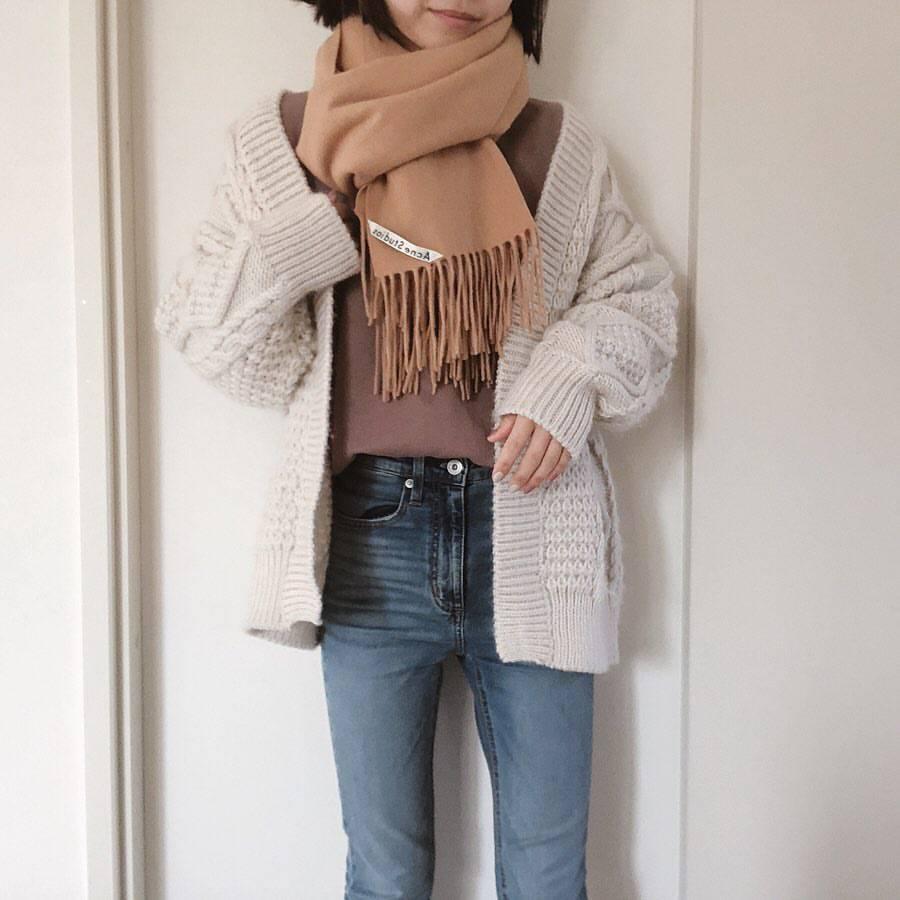 最高気温16度・最低気温2度 re_____rの服装