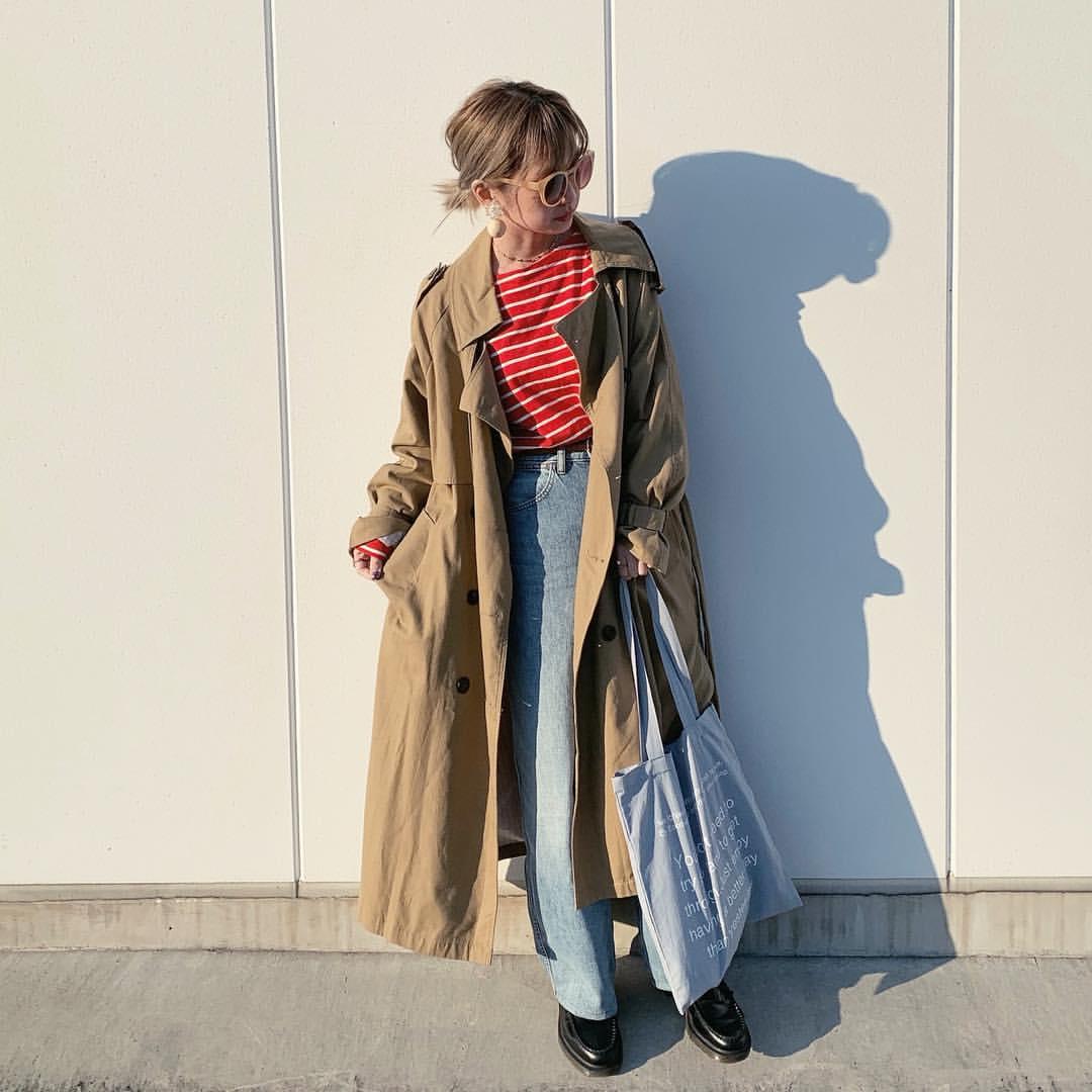 最高気温15度・最低気温3度 rira_yukariの服装