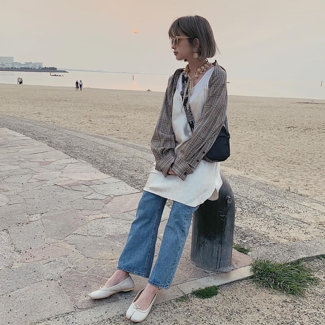 最高気温21度・最低気温10度 rira_yukariの服装